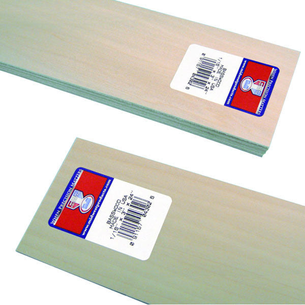 "Midwest Products 4302 Basswood Sheet, 1/16"" x 3"" x 24"""