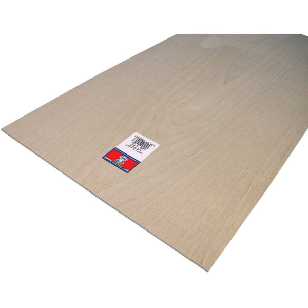"Midwest Products 5306 Birch Veneer Craft Plywood, 1/8"" x 12"" x 24"""
