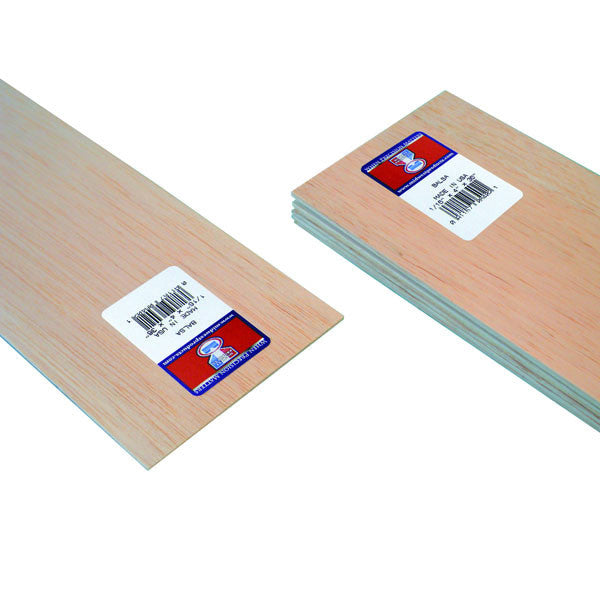 "Midwest Products 6402 Balsa Wood, 1/16"" x 4"" x 36"""