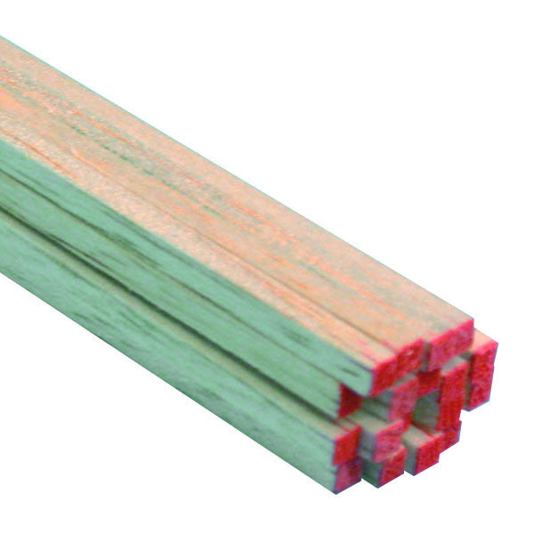 "Midwest Products 6044 Balsa Wood, 1/8"" x 1/8"" x 24"""