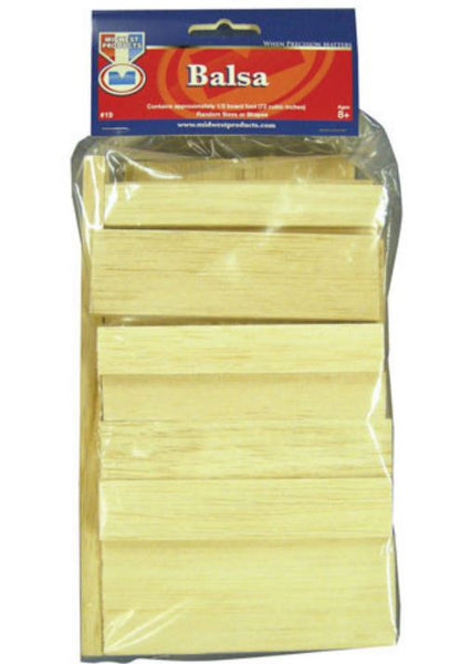 Midwest Products 19 Balsa Economy Basswood Bag, 72 Cubic Inches