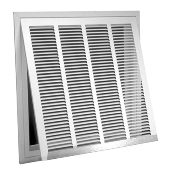 "AmeriFlow® 326W20X20 Steel Lanced Return Air Filter Grille, White, 20"" x 20"""