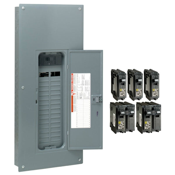 Square-D HOM3060M200PCVP Homeline™ Main Breaker Installed Load Center, 200A