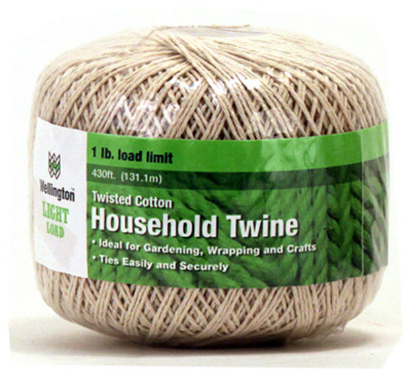 Wellington™ 15661 Twisted Cotton Household Twine, Natural Color, 430'