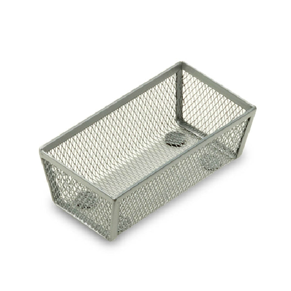 "Honey-Can-Do KCH-02158 Steel Wire Mesh Drawer Organizer, Silver, 6"" x 3"" x 2"""
