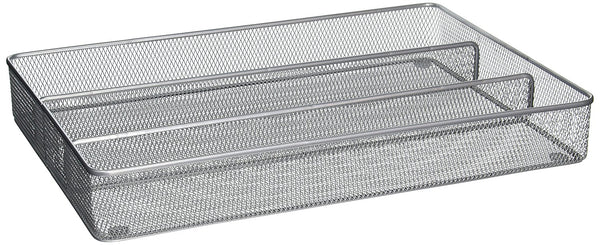 Honey-Can-Do KCH-02163 Expandable Steel Mesh Drawer Organizer, Silver