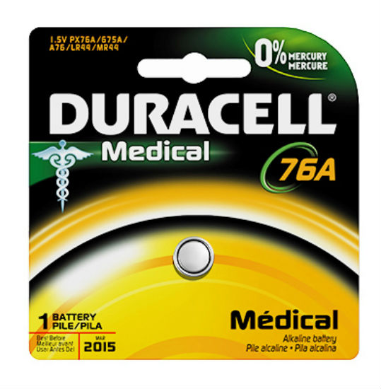 Duracell® 66445 Alkaline Home Medical Battery #76A, 1.5-Volt