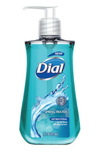 Dial® 02670 Spring Water® Antibacterial Liquid Hand Soap with Moisturizer, 7.5 Oz