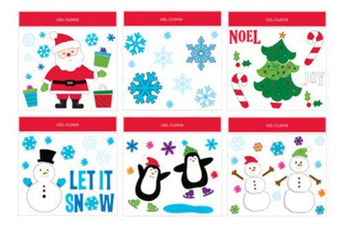 "Impact Innovation 13276D Christmas Gel Cling, Assorted, 11.5"" x 12"""