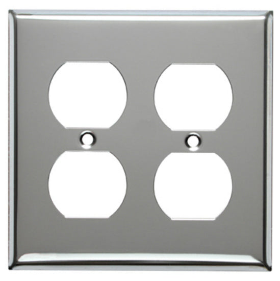 Mulberry Metals 83102 Steel Wall Plate, 2-Gang, Chrome, Standard Size