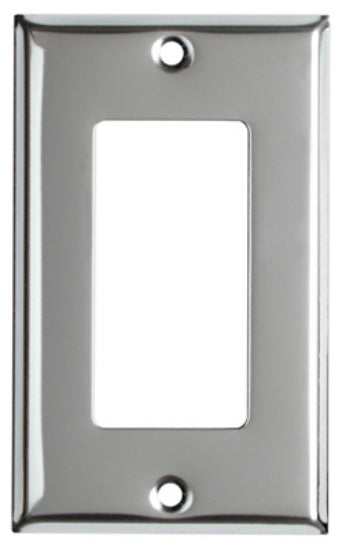 Mulberry Metals 83401 Steel Wall Plate, 1-Gang, Chrome, Standard Size
