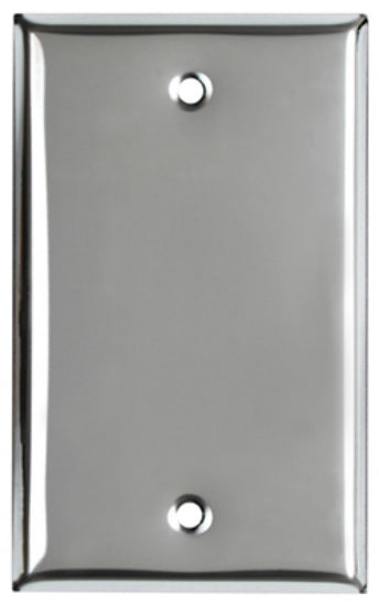 Mulberry Metals 83151 Steel Wall Plate, 1-Gang, Chrome, Blank