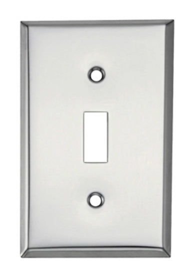 Mulberry Metals 83071 Steel Wall Plate, 1-Gang, Chrome, Standard Size