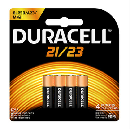 Duracell® 65868 Alkaline Security Battery #MN21, 12-Volt, 4-Pack