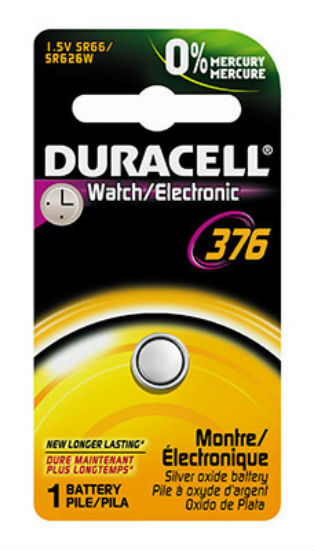 Duracell® 10909 Silver Oxide Watch Battery, 1.5 Volt, #376
