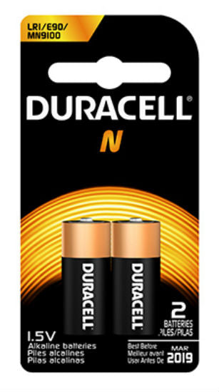 Duracell® 66275 Alkaline Home Medical Battery #N, 1.5-Volt, 2-Pack