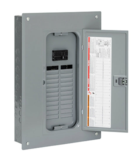 Square-D QO124M100PC Main Breaker Installed Load Center, QO, 100A