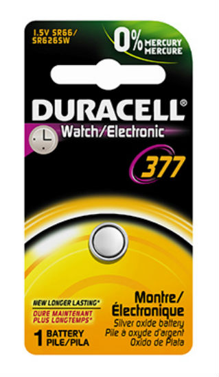 Duracell® 17709 Silver Oxide Watch Battery, 1.5 Volt, #377