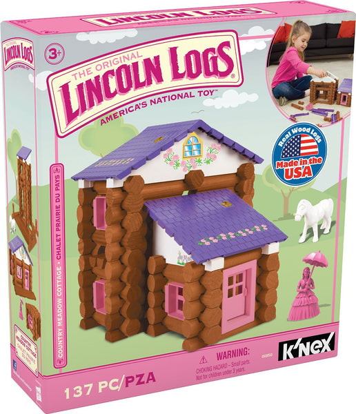 Knex® 00850 Lincoln Logs® Country Meadow Cottage Set, 137-Pieces