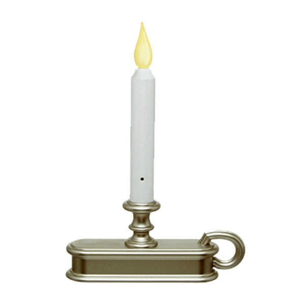 Carlon® FPC1225P Traditional Deluxe Battery-Operated LED Window Candle, Pewter
