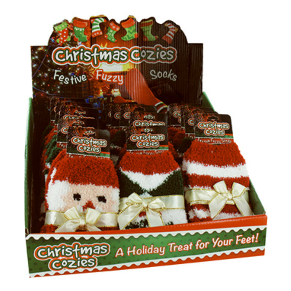 Christmas Cozies X-SOCKS Super Soft Festive Fuzzy Socks, Assorted, 8-Styles