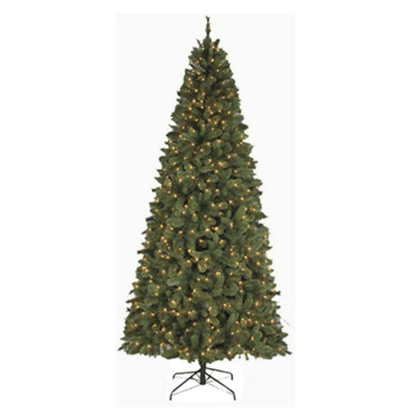 Polygroup TV15044 Slim Virginia Spruce Artificial Tree, 9', 750-Clear Lights