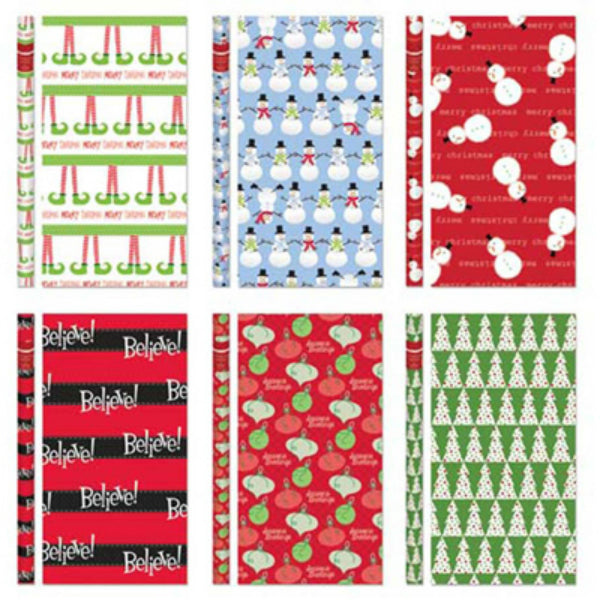"Expressive Design CW9040A9TV Whimsical Roll Wrap, Assorted, 40"" x 90 Sq.Ft."