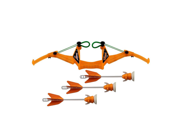 FireTek™ FT811-O Zeon Bow with 3 Light-Up Suction-Cup Arrows Toy Set, Age 5+