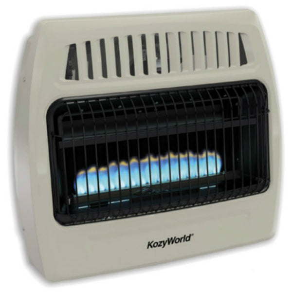 Kozy World® KWD378 Vent Free Gas Wall Heater, Ambient Flame, 30000 BTU