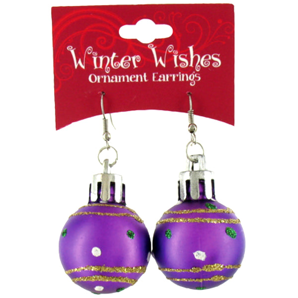Winter Wishes X-ORER Christmas Ornament Earrings, Assorted Color