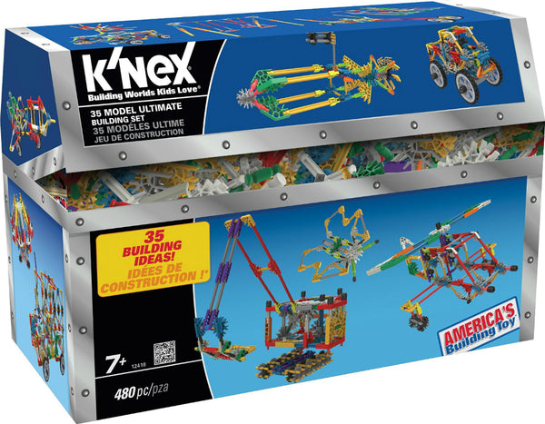 Knex® 12418 Ultimate Building Set for 35 Models, Ages 7+, 480-Pieces