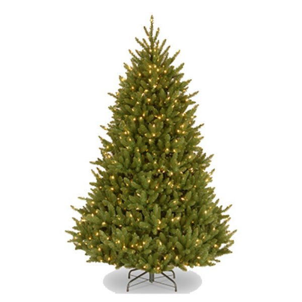 National NAFFMH7-75LO Natural Fraser Fir Hinged Artificial Tree 7.5', 750-Lights