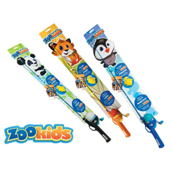 South Bend® C/ZOOKID-AST Zoo Kids Panda Tiger Penguin Fishing Combo, 30""