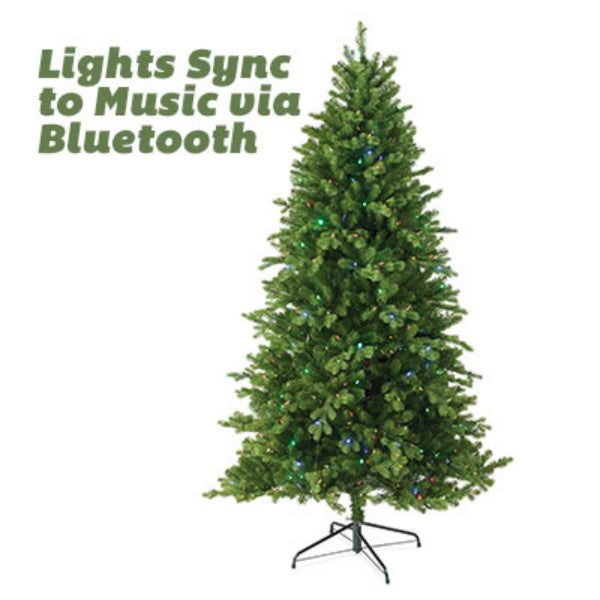 National TPES3 Northern Spruce Hinged Artificial Tree 7.5', 550 Dual LED Light