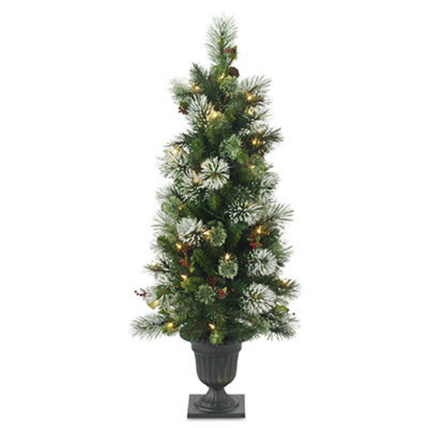National WP3-302-40 Wintry Pine Artificial Entrance Tree 7', 50-Clear Lights
