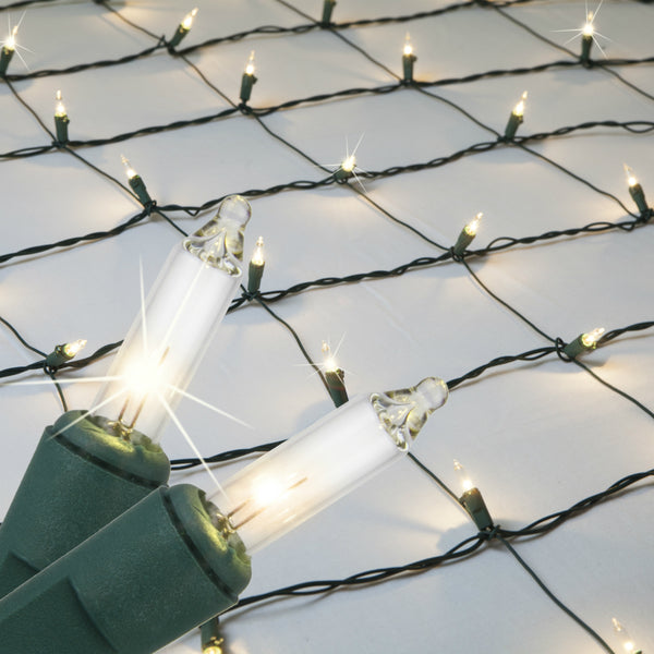 Sylvania V44872-88 StayLit Christmas Net Style 150-Light Set, Clear, 4' x 6'