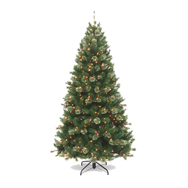 National AT7-321P-75 Atlanta Spruce Artificial Christmas Tree, 500-Lights, 7.5'