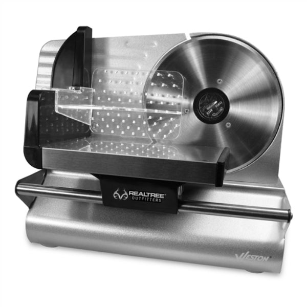 "Weston 83-0750-RT Realtree Outfitters® Meat Slicer w/ Cover, 7-1/2"", 200W Motor"