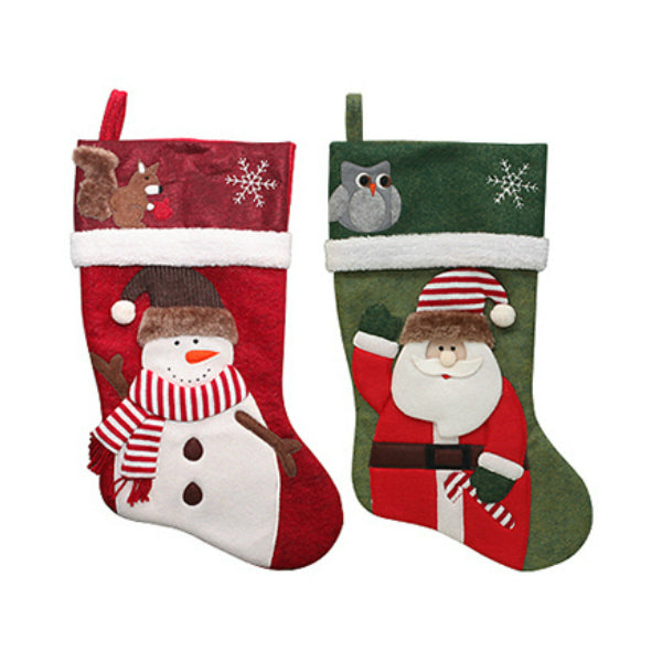 "Dyno Seasonal Solutions 1197383CC Mottled Felt Stocking, 19"", Assorted"