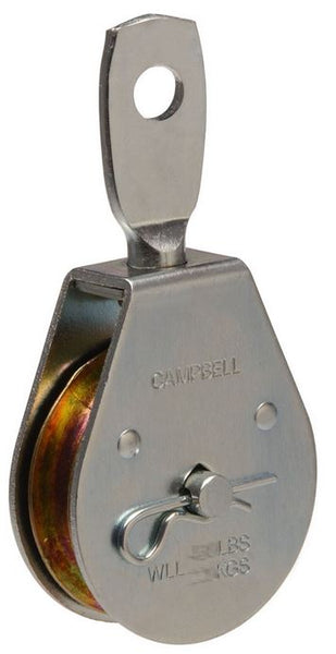 Campbell® T7550301 Single Sheave Swivel Eye Pulley, Steel, 420 Lb, 1-1/2""