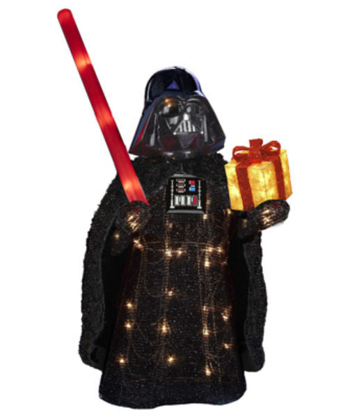 Kurt Adler ZTSW9TV9155 Christmas Tinsel Star Wars™ Darth Vader, 50-Lights, 28""