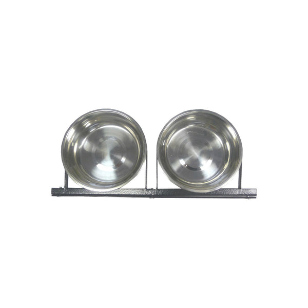 Lucky Dog™ CL-71121 Stationary 2-Dog Bowl System, Stainless Steel