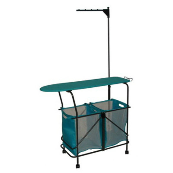 Zenithen LS633SN-TV01 Collapsible Laundry Station w/Bag & Ironing Board, Teal