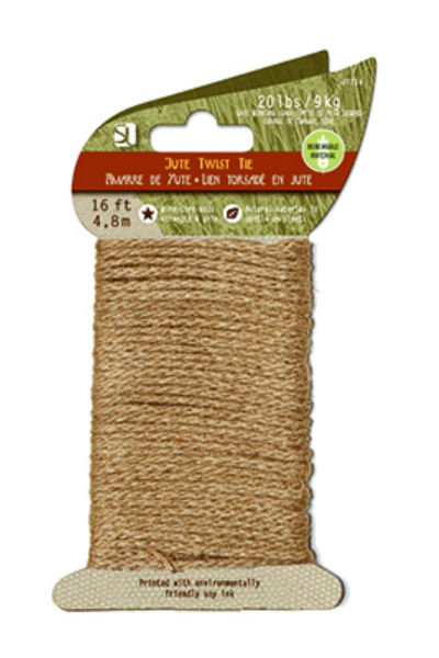 Wellington™ JTT16 Jute Twine Twist Tie, 16'