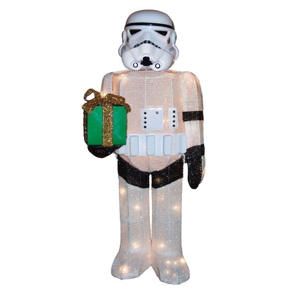 Kurt Adler ZTSW9TV9152 Christmas Star Wars™ Tinsel Storm Trooper, 50-Light, 28""