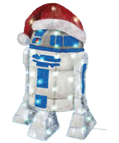 Kurt Adler ZTSW9TV9133 Christmas 3D Tinsel Star Wars™ R2D2, 50-Lights, 28""