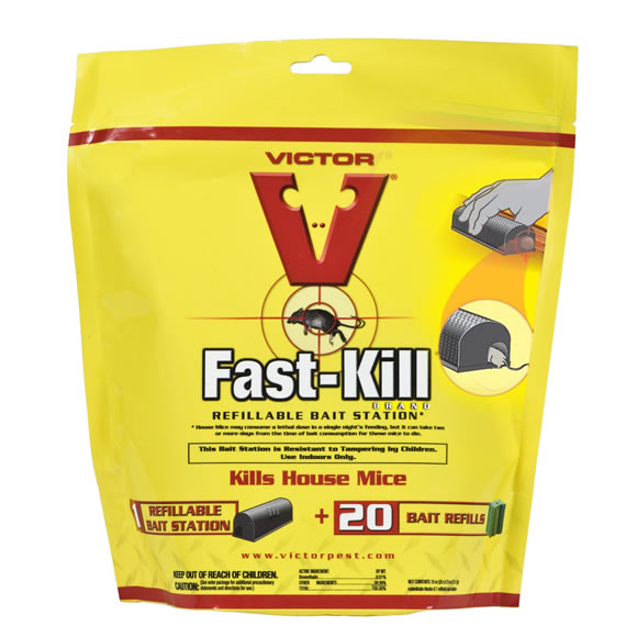 Victor® M920 Fast-Kill® Refillable Bait Station with 20 Bait Refills