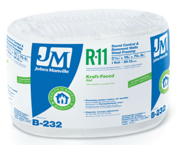 Johns manville 90003717 kraft faced r 11 fiberglass for Fiberglass insulation sizes