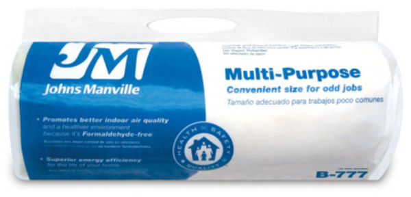 Johns manville 90010045 multi purpose fiberglass for 6 fiberglass insulation r value