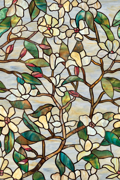 "Artscape® 01-0142 Summer Magnolia Design Window Film, 24"" x 36"""